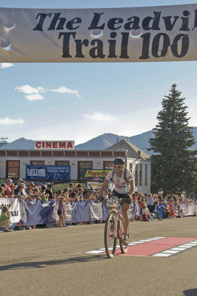 Leadville Traill 100 finish line