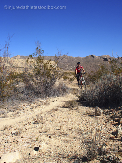 West Texas mountain biking 1 week before surgery in 2014