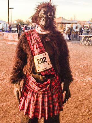 """William's """"uniform"""" for the Gorilla Run in Austin, Texas."""