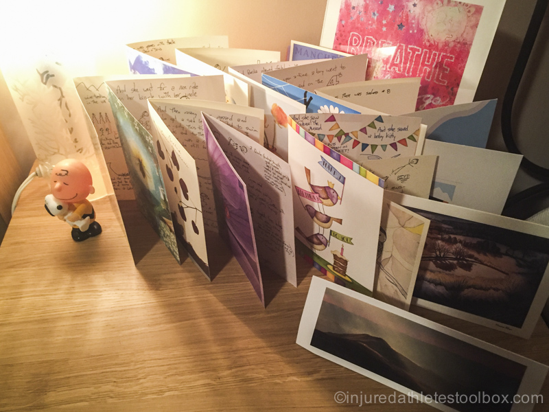bedside table card collection